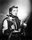 Gail Davis Holding Pistol in Classic
