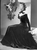 Gloria Grahame Posed in a Black Dress