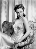 Susan Hayward Posed in a Shiny Gown