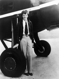 Amelia Earhart on Jet Tires Portrait