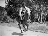 Roy Rogers Riding on a Running Horse