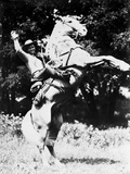 Roy Rogers posed on a Rearing Horse