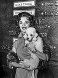 Natalie Wood Holding a Dog in Classic