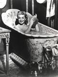 Lana Turner Bathing in Black and White