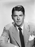 Ronald Reagan Posed in Suit and Tie