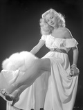 Gloria Grahame Posed in a White Dress