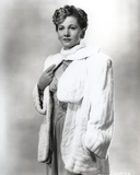 Joan Fontaine wearing a Fluffy Coat