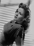 Shirley Temple wearing a Black Blouse