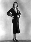 Fay Wray Posed in Black Two Piece Dress