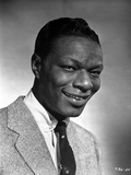 Nat Cole smiling in Black and White