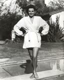 Jane Russell in Bathrobe Black and White