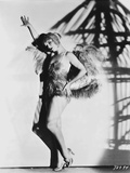 Louise Brooks Posed in Fur Sexy Dress