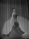 Natalie Wood posed in a Theater Stage