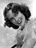 Eleanor Powell Posed in Ruffled Top