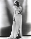 Dolores Del Rio Posed in White Dress
