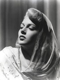 Lana Turner Portrait in with Eyes Closed