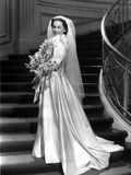 Maureen O'Sullivan on a Bridal Gown