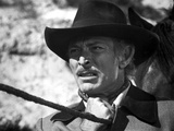 Lee Van Cleef Posed in Black and White