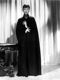 Anna Wong wearing a Long Black Dress