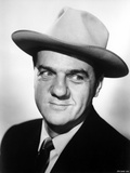 Karl Malden Posed in Black Suit With Hat