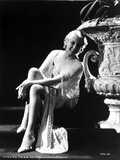 Thelma Todd Seated in Black and White