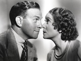 George Burns Nose to Nose with Woman