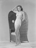Susan Hayward Posed in Two Piece