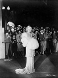 Mae West Posed in Black and White