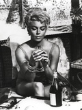 Lana Turner Drinking Wine Portrait
