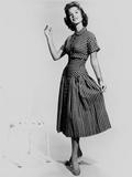Natalie Wood Posed in Plaid Dress