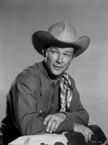 Roy Rogers Posed in Striped Shirt