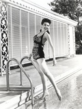 Ann Miller Posed at Swimming Pool