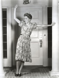 Joan Fontaine Leaning and Waving