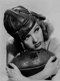 Betty Grable Posed with a Football