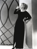 Joan Fontaine wearing a Black Gown