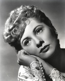 Joan Fontaine with Face on Hands