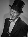 John Wayne portrait in a top hat