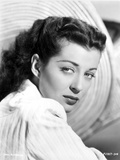 Gail Russell Posed in White Shirt