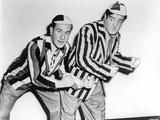 Abbott & Costello in Stripe Suit