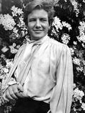 Albert Finney Posed in White Coat
