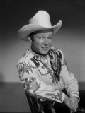 Roy Rogers Seated in Cowboy Outfit
