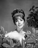 Natalie Wood smiling in Fur dress