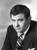 Buddy Hackett Posed in Black Suit