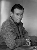 John Wayne sitting down portrait