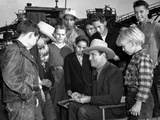 Gene Autry Surrounded by a Crowd