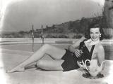 Jane Russell Posed in Mini Skirt