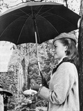 Natalie Wood Holding an Umbrella