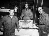 Abbott & Costello Posed with Woman