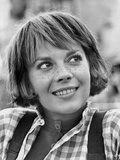 Natalie Wood smiling in Plaid Polo