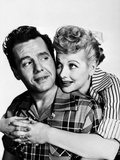 Lucille Ball hugging in Stripes